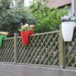 Railing Flower Pot (Green)