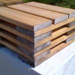 Wooden Rain Barrel Stand