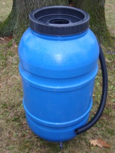 Blue Rain Barrel 220L / 55 Gallon