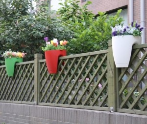 Railing Flower Pot (Green)