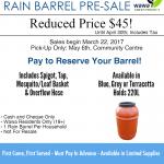 EDC - Rain Barrel Sale