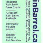 RainBarrel.ca and RainBarrelFundraising.com Mini-Flyer – One Way We Support Our Non-Profit Partners